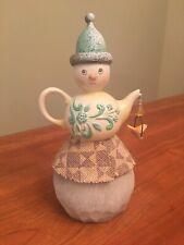 Jim Shore Rivers End Teapot Snowman 4048061