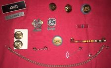 WW2 Korean War Metals Pins Sterling Silver Rifle Badges Bars Emblems Chain Pearl