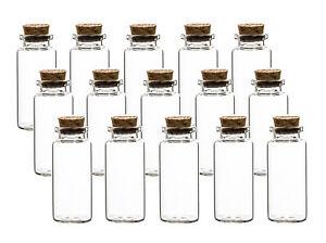 15er Set Glas Fläschchen mit Korken Flaschen Mini Reagenz Gläser Deko klein 30ml