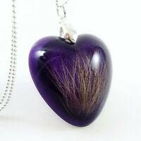 Lock of Hair Fur Pet Loss Custom Keepsake Necklace Locket Mum Memorial Jewellery