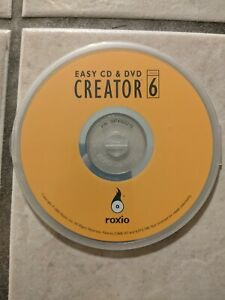 Roxio Easy CD & DVD Creator Version 6 PC-WIN FREE DOMESTIC SHIPPING