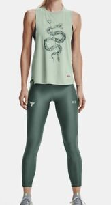 Under Armour Women's Project Rock No Tomorrow Tank.Fisher Green/Toddy Green