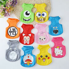 New Pet Dog Clothes T Shirt Vest Cartoon Design Cat Summer Apparel Costume XS-XL