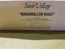 Dept 56 Marshmallow Roast Snow Village #54780 Set of 3. Battery operated