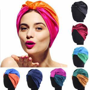 Women's Pure Silk Sleeping Cap Sleep Hat Night Hair Styling Care Bonnet Wrap NEW