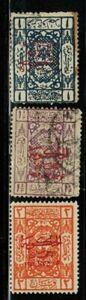 Saudi Arabia #L101,102,103 1925 Used/MH(103)