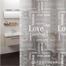 Creative White English Letters Love Shower Curtain 180*180cm Curtains Bath Z