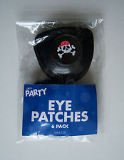 6 Pirate Eye Patches Children's Party Bag Filler Kids Dressing Up Black Skull