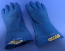 SALISBURY ELECRTICAL RUBBER GLOVES SZ 9 BLUE ANSI/ASTM  D120 TYPE II NNB