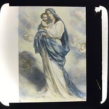 Antique Magic Lantern Glass Slide Photo Madonna Derfregger