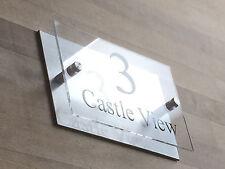 Acrílico Y Número De Casa Puerta Cartel Aluminio moderna placa de nombre de calle