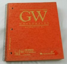 Vtg George Washington University Spiral Bound College Ruled Notebook Orange