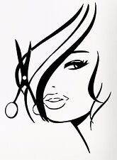 Vinyl Decal Wall Sticker Hair Beauty Salon Barbershop Hot Girl Teen Woman (z736)