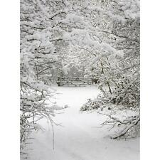 3x5FT Snow Christmas Vinyl Background Photography Photo Backdrop Studio Prop