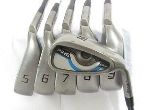 Used RH Ping GMAX Iron Set 5-W Senior Flex Graphite Shafts