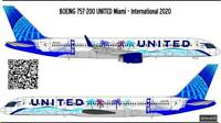 Boeing 757-200 United new livery decal 1144