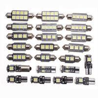 23x LED White Car Inside Lights Kit Dome Trunk Mirror License Plate Lamps Bulb