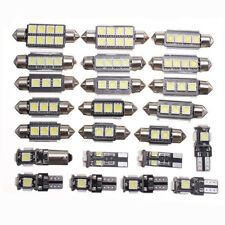 23x LED White Car Inside Lights Kit Dome Trunk Mirror License Plate Lamps Bulb