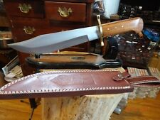 "16"" OVERALL CHIPAWAY CUTLERY BOWIE KNIFEGENUINE WALNUT WOOD HANDLE 440 S.S. LEA"