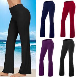 Women Foleover Yoga Pants High Waist Stretch Wide Flare Leg Bootcut Gym Leggings