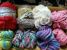 New listing Sugar n Cream Cotton Yarn Lot new and partial skeins