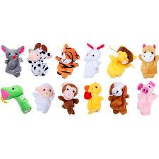 12x Farm Zoo Animal Finger Puppets Toys Boys Girls Goodies Bag 0-12 Months