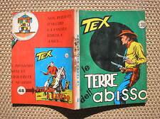 TEX # 47 THE LANDS OF THE'ABYSS PRIMA EDITION SETTEMBRE 1964 CON MG NO DIRECT