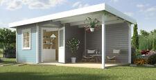 Weka Gartenhaus Designhaus 213 B Gr.2, 5-Eck, grau, 601 x 298