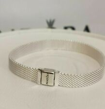 "20cm/7.9"" New Authentic PANDORA Reflexions™ Silver Mesh Bracelet #597712 w/ BOX"