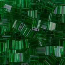 Tila Bead Two Hole Japanese seed beads Transparent Green-10grams