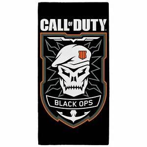 Call Of Duty ' Black Ops ' Beach Towel 100% Cotton Bath Beach Swimming