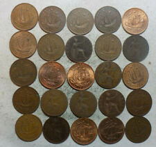 25 Assorted Great Britain 1/2 Penny Coins  (L71)