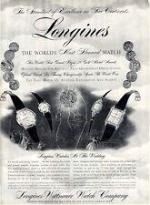 1957 Longines-Wittnauer Watch Rajah-Eldorado-Starlight Splendor-Signet PRINT AD