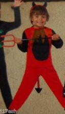 NEW Kids Little Red Devil Fancy Dress Costume 3/4/5 Yrs