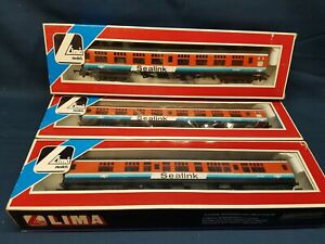 3 X RARE LIMA 5317 & 5318 RED/BLUE SEALINK CK COACHES SC24850 /SC 7997 EXC BOXED