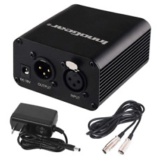 InnoGear 1- Channel 48V Phantom Power Supply with 10 Feet XLR Cable and Adapter