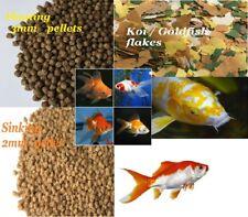 GOLDFISH FANTAIL MOLLY SHUBUNKIN KOI POND FISH FOOD PELLET FLAKE SINK FLOAT FEED