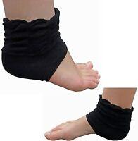 Ladies Frilly Ankle Socks Gel Heel Protectors Support Foot Injury Pain Relief UK
