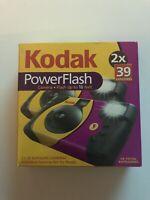 Kodak Power Flash One-time Use Camera 39-2Pack Exp 800 New