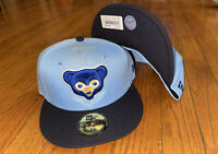New Era Chicago Cubs 59fifty Fitted Hat BabyBlue/Navy 2 Tone Size 7 1/4