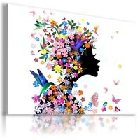 FLOWERS WOMAN SUMMER GIRL Canvas Wall Art Abstract Picture AB531SG MATAGA .