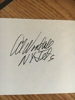 Al Woodall New York Jets Signed 3x5 index Card