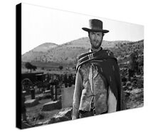 Clint Eastwood - Quadro Stampa su tela canvas wall art framed print