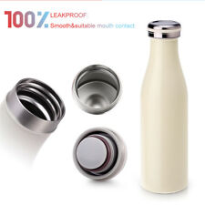 500ml Water Bottle Vacuum Insulated Flask Thermal Sport Chilly Hot/Cold Cups