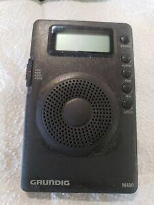 Grundig m400 AM FM Shortwave Pocket Radio Alarm  w/ Case