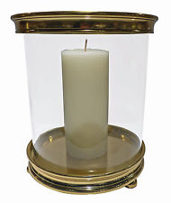 "Hurricanes - ""Chelsea"" Cylinder Hurricane Candle Holder - Antique Gold Finish"
