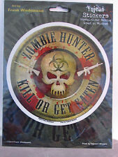 Zombie Hunter Kill or Be Eaten ~ Clear Self Adhesive Decal Car Truck Laptop