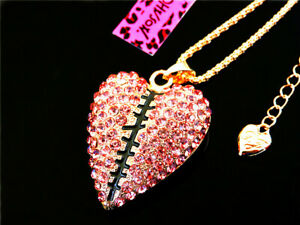 Jewelry Betsey Johnson Pendant Rhinestone enamel Heart-shaped necklace Fashion