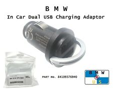 BMW NEW 2 Ports Twin Dual Genuine USB Iphone Ipod Charger Adapter 84109376940