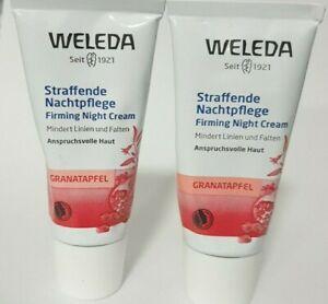 2 X Weleda Granatapfel straffende Nachtpflege Creme, 30ml (Ohne Verpackung)